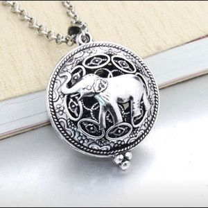 Essential oil elephant necklace diffuser
